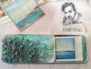 Morská krabička na fotografie, alebo darček