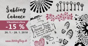 Newsletter – Nakúpte cez víkend šablóny Cadence so zľavou