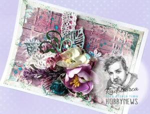 Mix média – kvetová karta