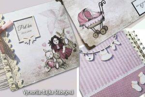 Album z papierov Vintage baby girl