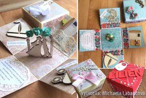 Exploding boxy na svadbu a k narodeniu dieťatka