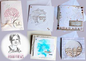 Pohľadnice biele na bielom