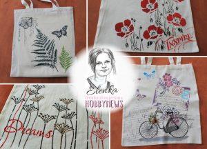 Maľovanie na textil – tašky