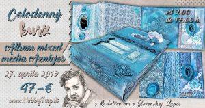 Pozvánka na kurz – mixmedia album Azulejos – videopozvánka